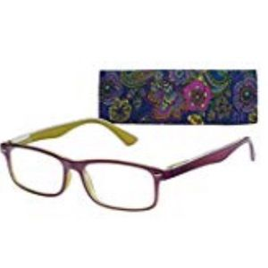 🆕ICU Eyewear Ankara Purple Glasses & Case +1.75